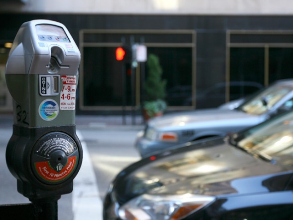 A city of Cincinnati parking meter on Elm Street. Kareem Elgazzar | WCPO