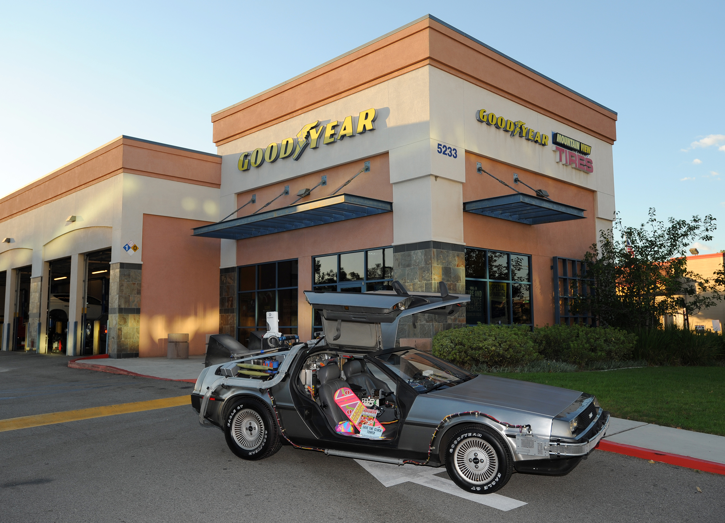 Goodyear Back to the Future Shoot