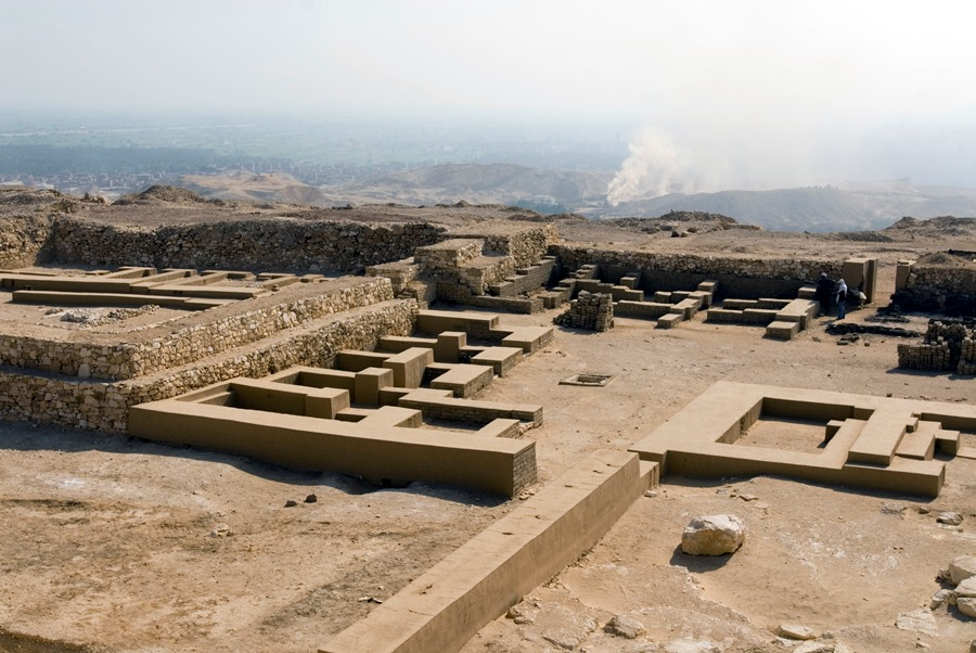 View from top of Djedefre's pyramid.