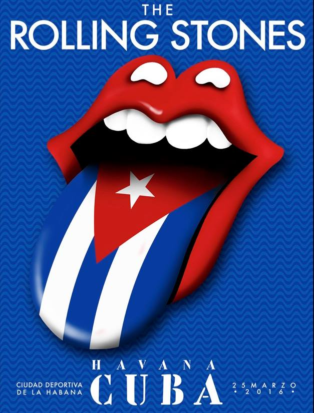 rolling stones cuba poster